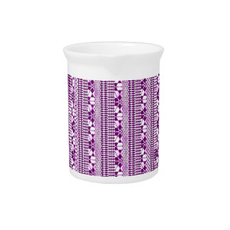 Sweet mixed borders, plum drink pitcher