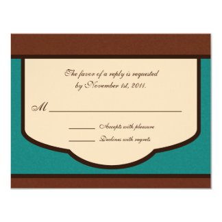 Sweet Mocha & Teal Reply / RSVP Cards