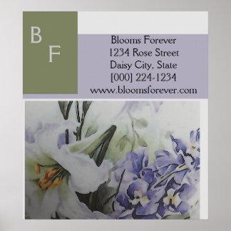 Sweet Modern Florist Poster