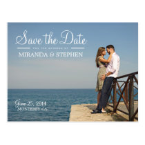 Sweet Modern Wedding Save the Date Photo Postcard