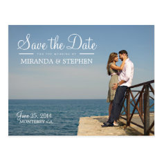 Sweet Modern Wedding Save The Date Photo Postcard at Zazzle
