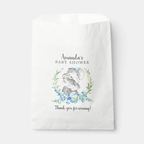 Sweet Mom & Baby Elephant Shower Favor Bags