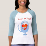 Sweet Mom, funny cat in love. T-shirt