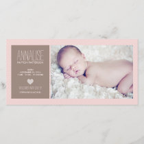 Sweet Moment Photo Baby Girl Birth Announcement