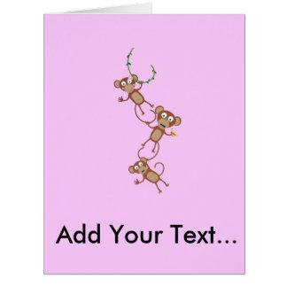 sweet monkey chain card