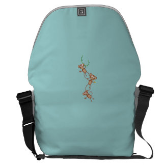 sweet monkey chain courier bag