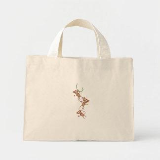 sweet monkey chain mini tote bag