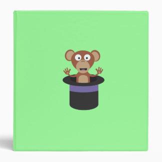 sweet monkey in hat 3 ring binder