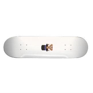 sweet monkey in hat skateboard