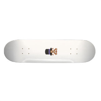 sweet monkey in hat skateboard deck