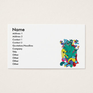 sweet monster cartoon art business card