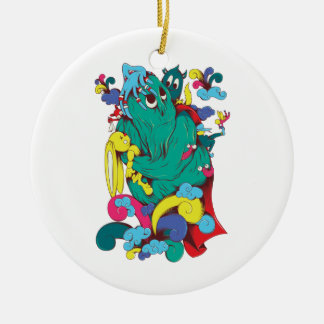 sweet monster cartoon art ornaments
