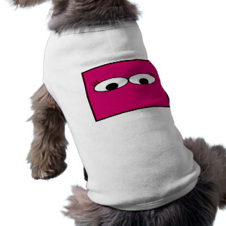 Sweet Monster Eyes On A Hot Pink Background Doggie Tee