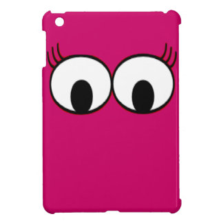 Sweet Monster Eyes On A Hot Pink Background iPad Mini Covers