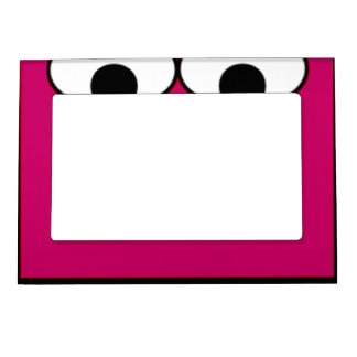 Sweet Monster Eyes On A Hot Pink Background Magnetic Picture Frame