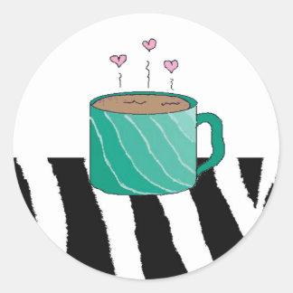 Sweet Mug of Coffee Classic Round Sticker