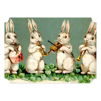 Sweet Musical Bunnies Easter Brunch 5x7 Paper Invitation Card