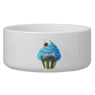 Sweet Mustached Cupcake Bowl