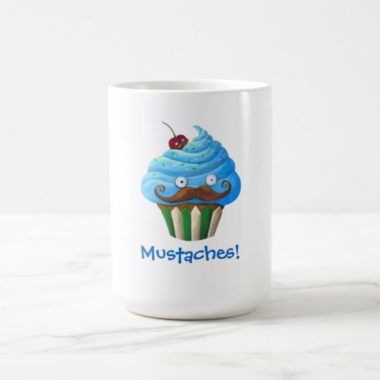 Sweet Mustached Cupcake Coffee Mug