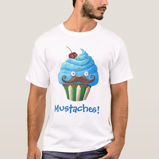 Sweet Mustached Cupcake T-Shirt
