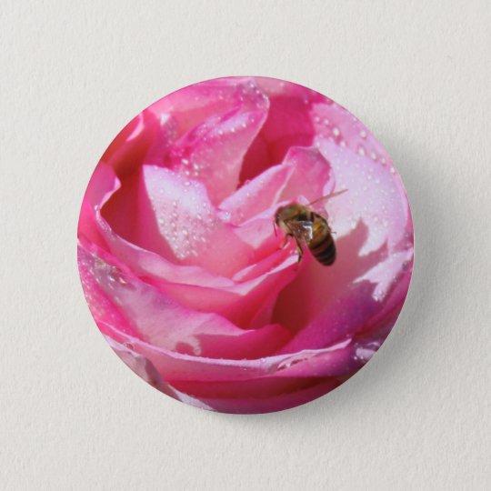 Sweet Nectar after a Light Rain Shower, Flower Bee Button