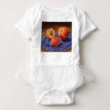 Beach Themed Sweet Nectarines Baby Bodysuit