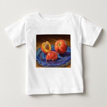 Beach Themed Sweet Nectarines Baby T-Shirt