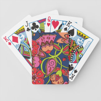 Sweet Neon Floral Bicycle Poker Deck