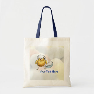 Sweet Newly Hatched Chick Design Tote Bag