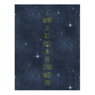 Sweet Nothings: Lost in the Stars Starry Night Sky Postcard