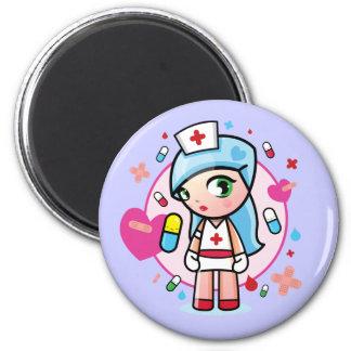 sweet nurse 2 inch round magnet