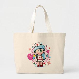sweet nurse jumbo tote bag