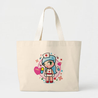 sweet nurse large tote bag