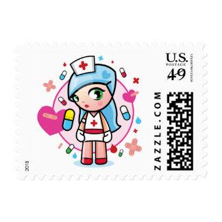 sweet nurse postage stamp