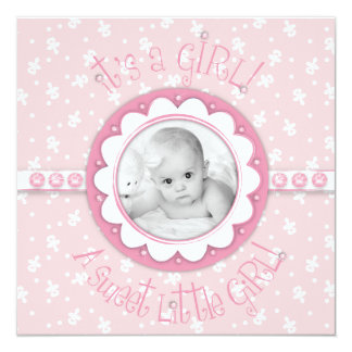 Sweet One Girl Announcement Square