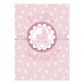 Sweet One Girl Gift Tag Large Business Card