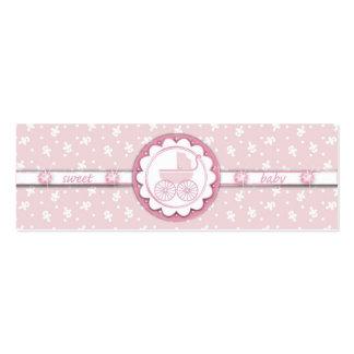 Sweet One Girl Skinny Gift Tag Mini Business Card