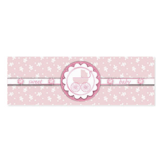 Sweet One Girl TY Skinny Gift Tag Mini Business Card