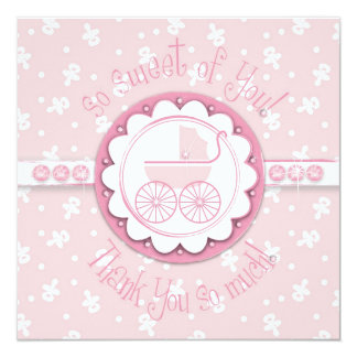 Sweet One Girl TY Square Card