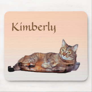 Sweet Orange and Brown Tabby Cat Mousepad
