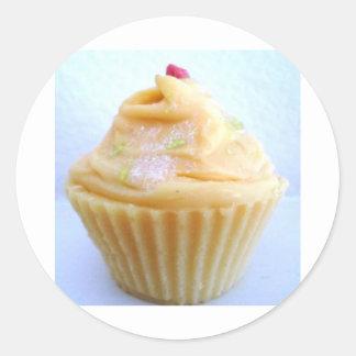 Sweet Orange Cupcake Stickers