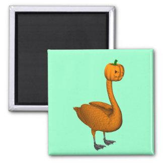 Sweet Orange Halloween Swan Magnet