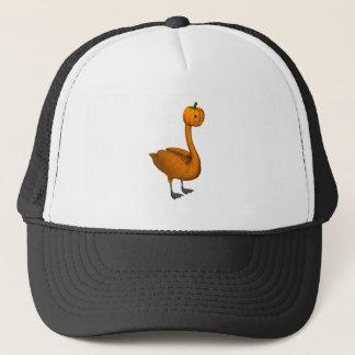 Sweet Orange Halloween Swan Trucker Hat