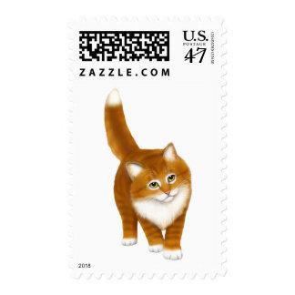 Sweet Orange Tabby Kitten Postage Stamps