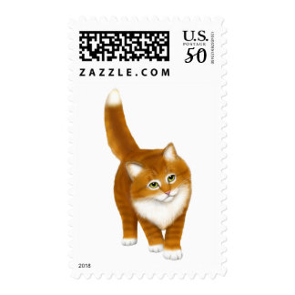 Sweet Orange Tabby Kitten Postage Stamps