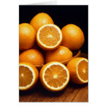 Sweet Oranges Whole and Halved Greeting Card