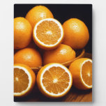 Sweet Oranges Whole and Halved Photo Plaques