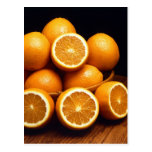 Sweet Oranges Whole and Halved Postcard