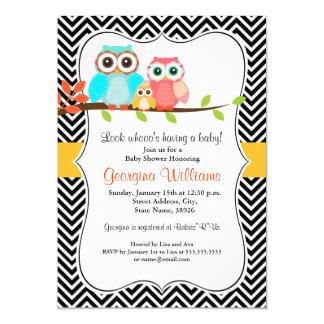 Sweet Owl Baby Shower Invite