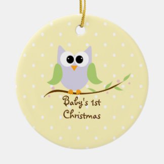 Sweet Owl Baby's First Christmas Ornament